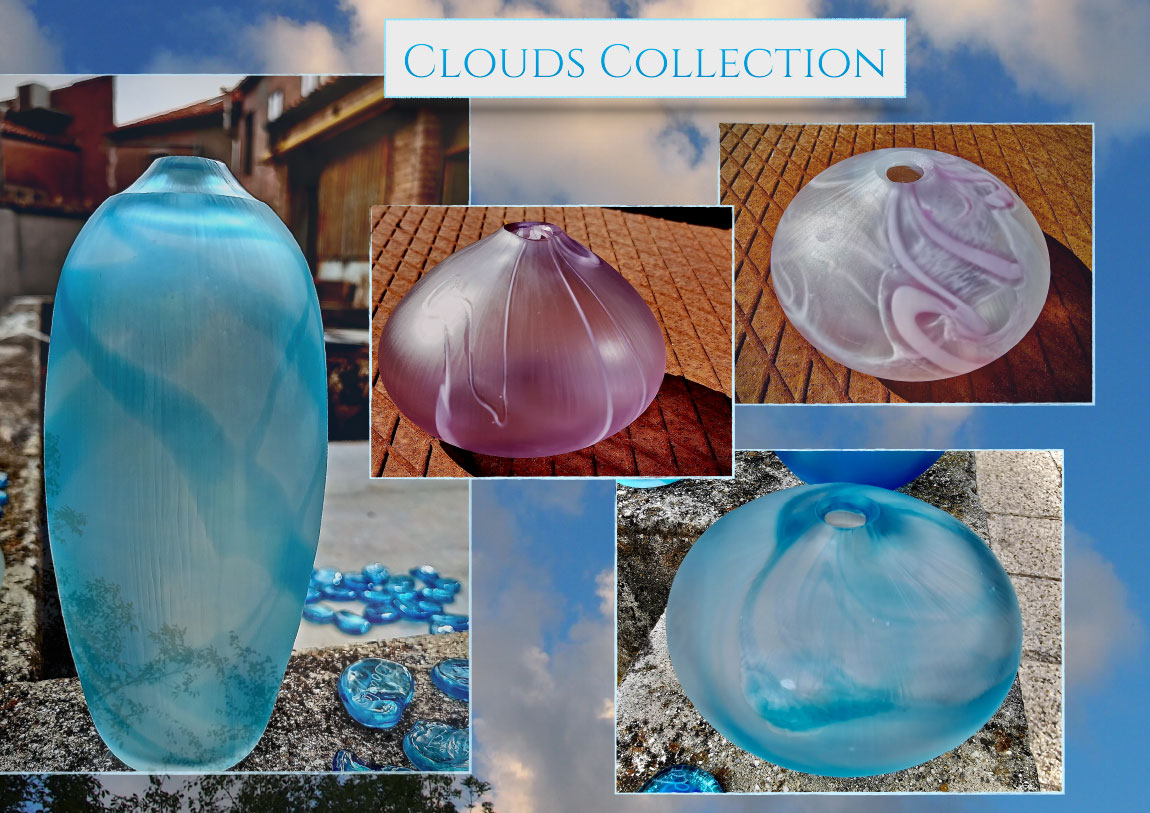 Clouds Collection Glass Vessels by Amy West Design