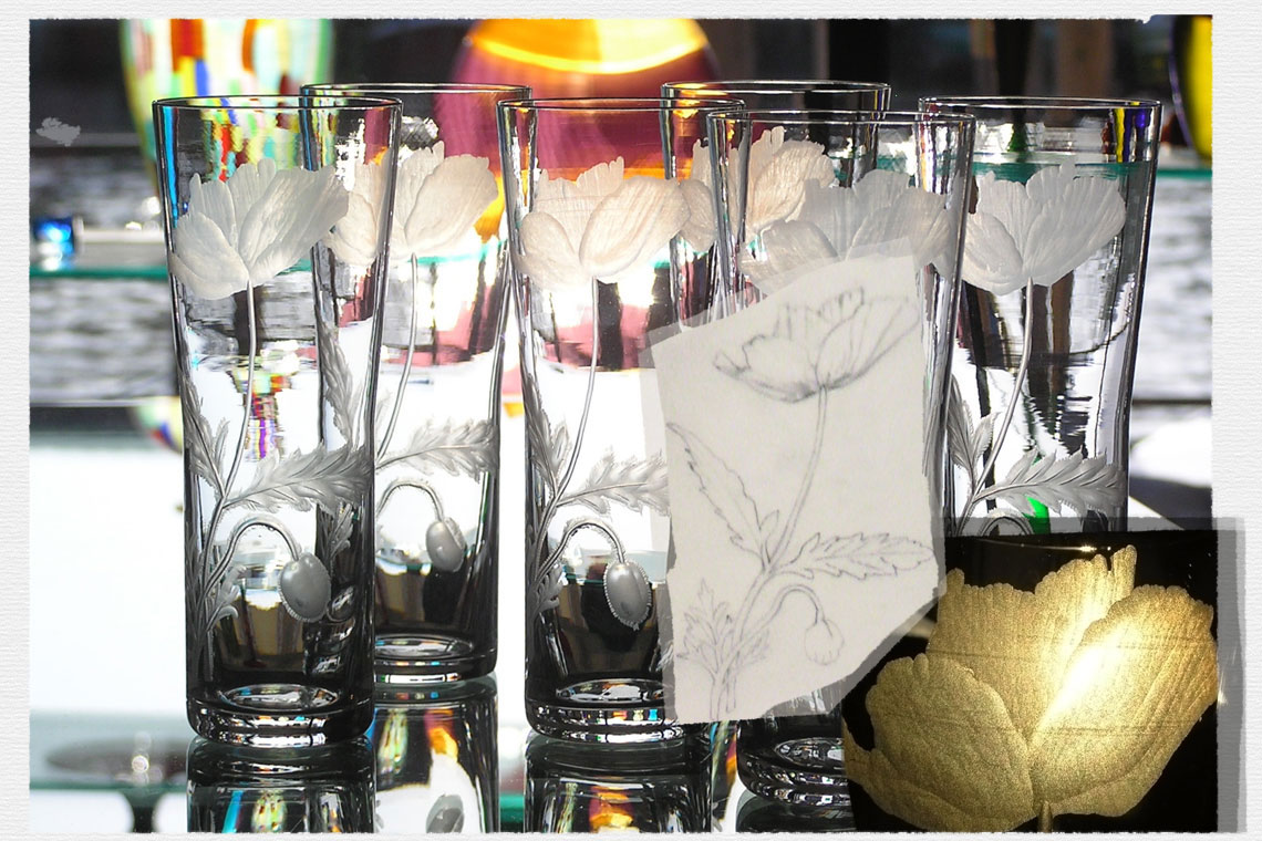 Glass Engraving by Amy West Design